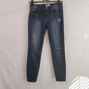 Jolt Distressed Ripped Skinny Legs Blue Jeans